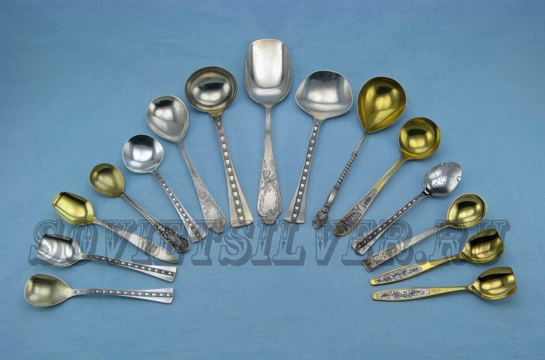 серебряные сервировочные ложки