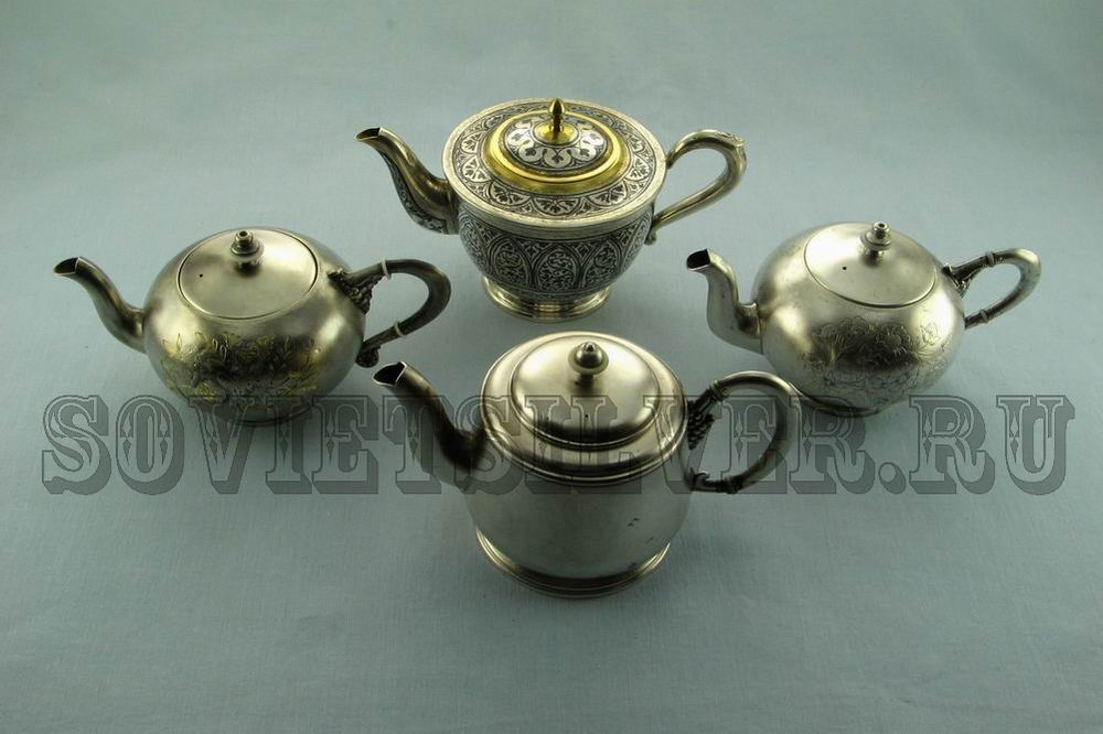 серебряные заварочные чайники