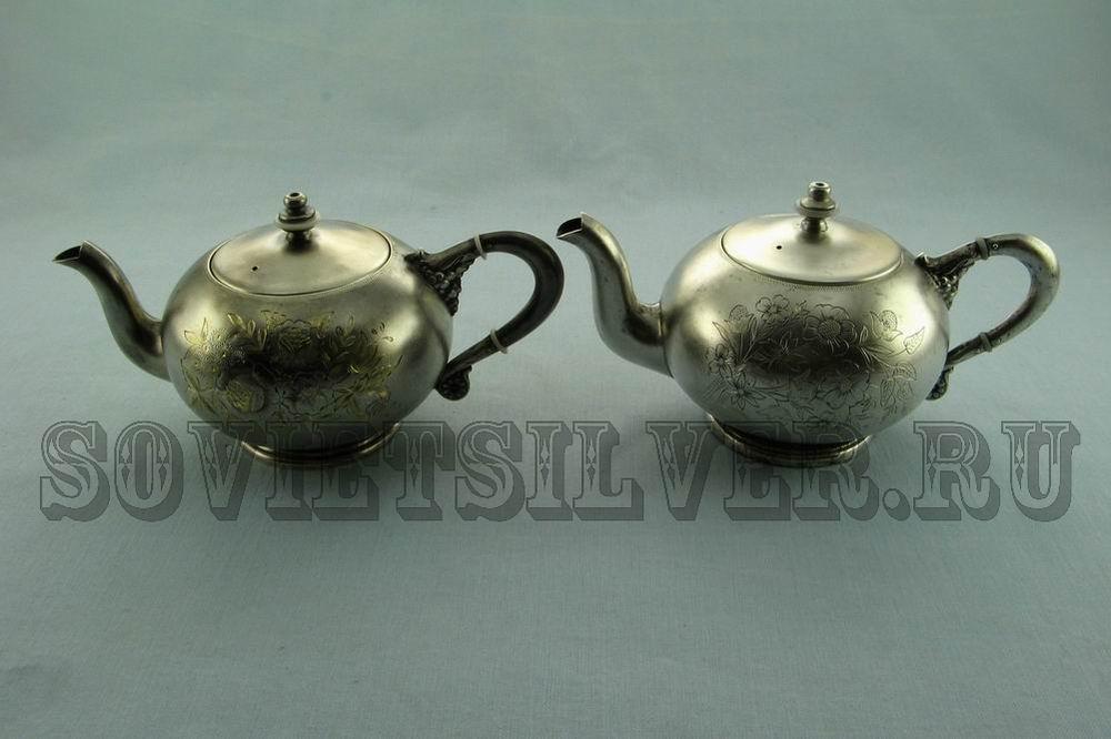 серебряные чайники Московской ф-ки