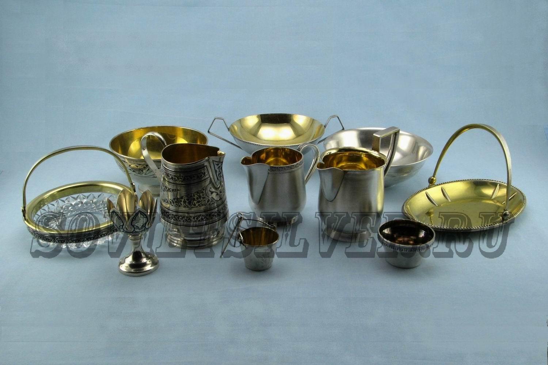 серебряная посуда разная 2