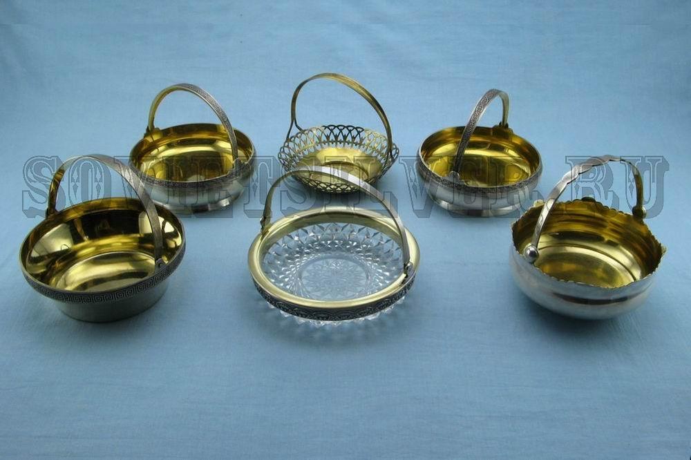 серебряные конфетницы