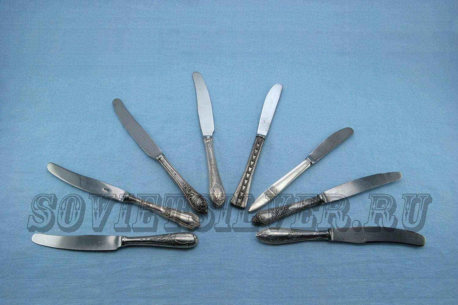 серебряные десертные ножи