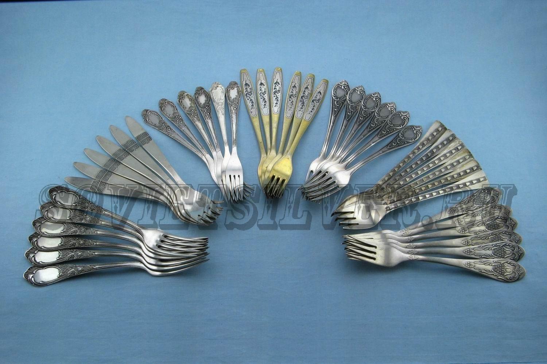 наборы серебряных вилок