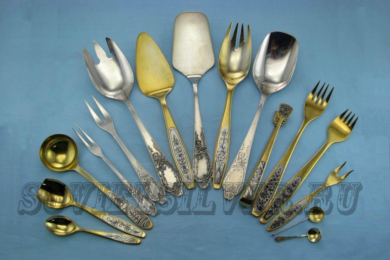 серебряные предметы сервировки 2
