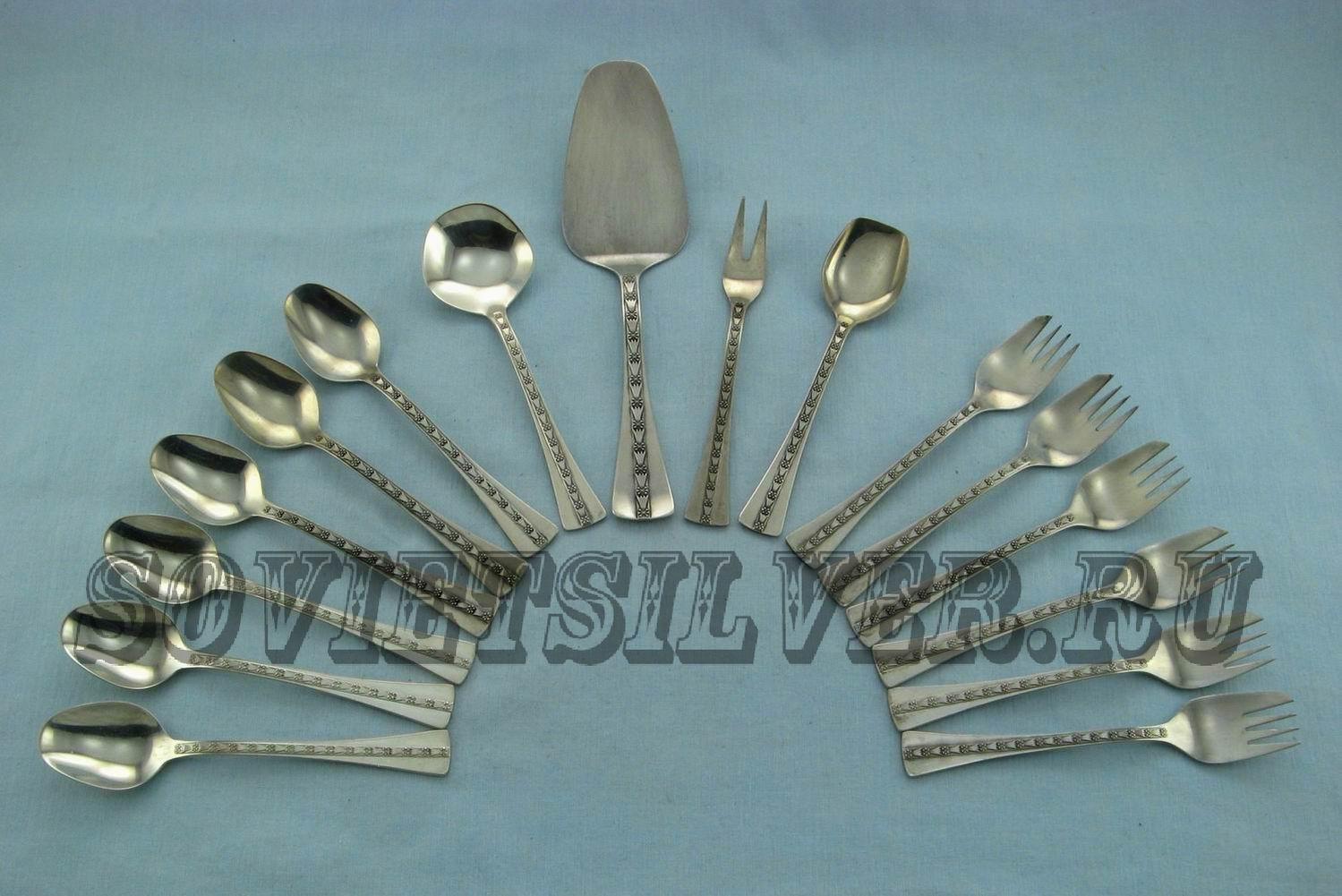 наборы серебряных приборов для чая