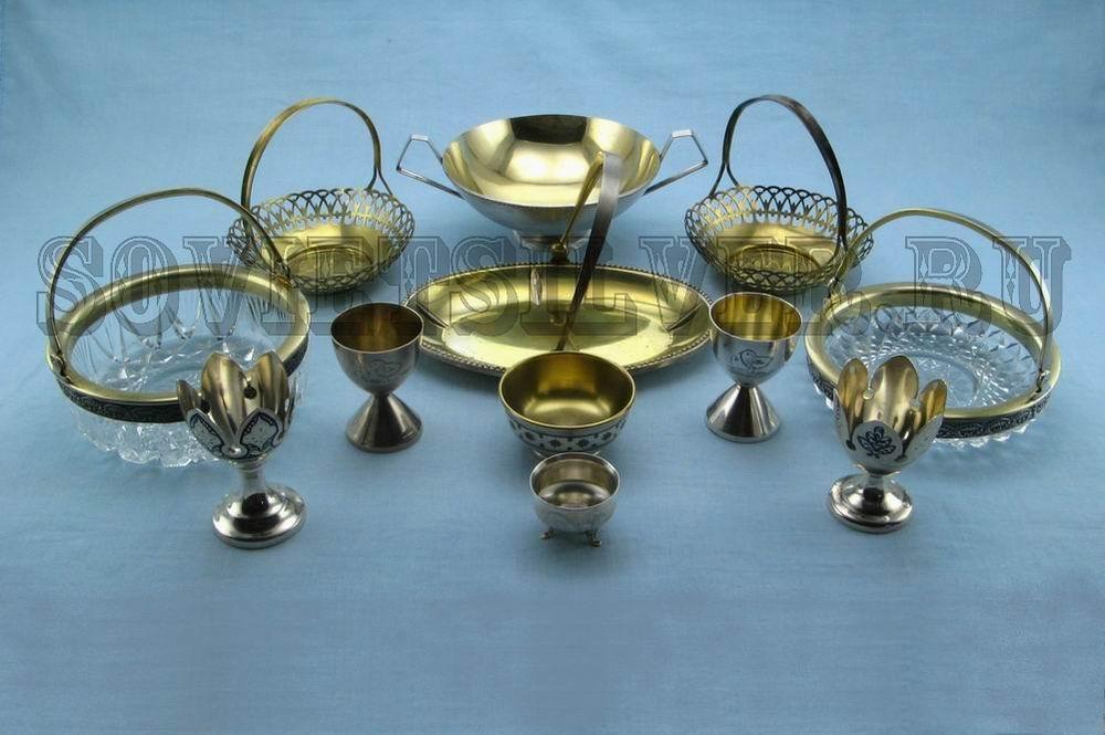 серебряная посуда разная