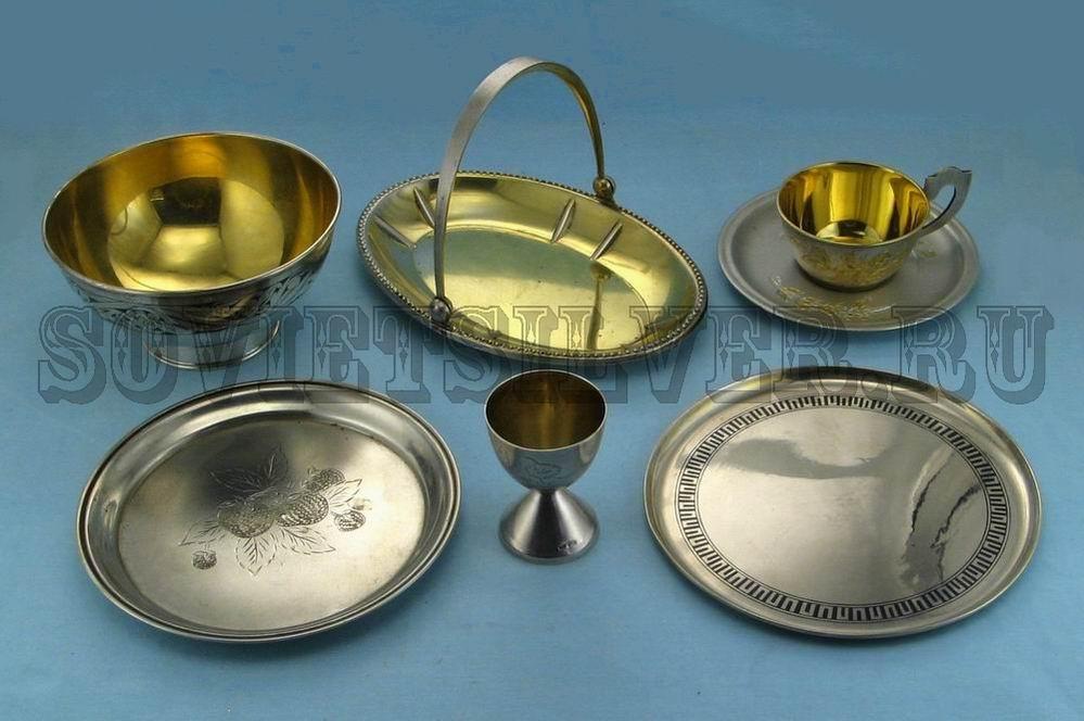 серебряная посуда 1