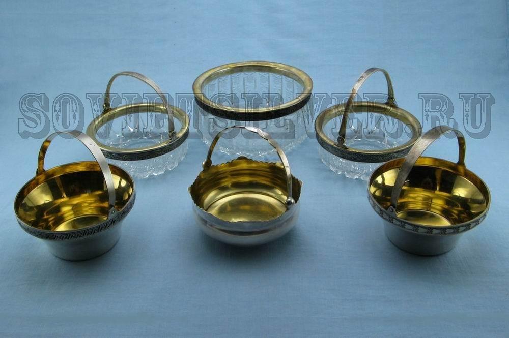 серебряные вазочки