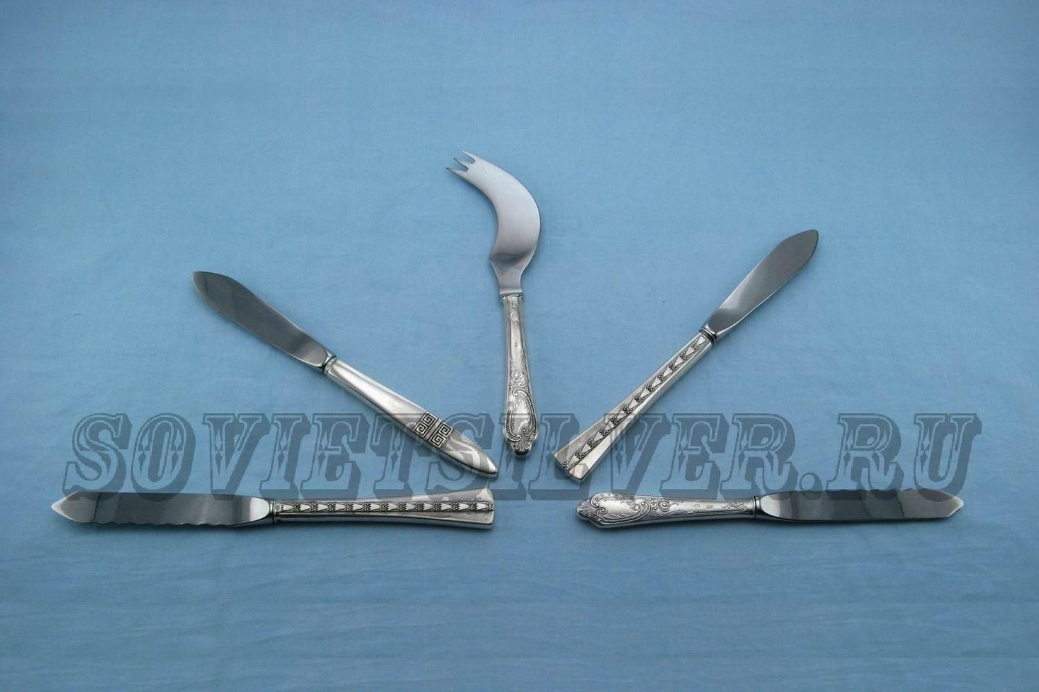 серебряные сервировочные ножи