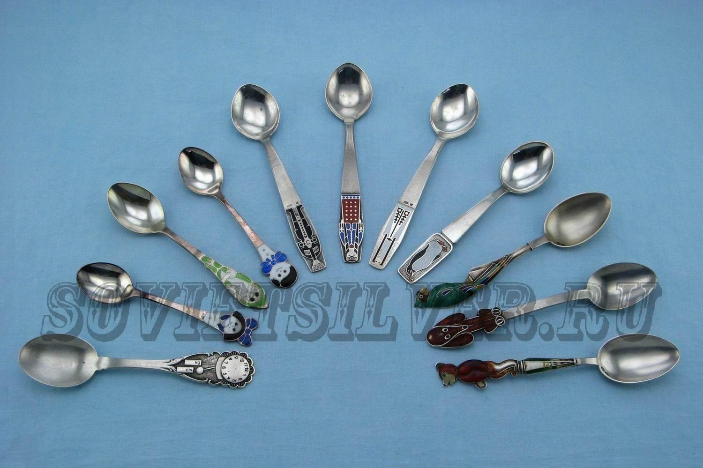 серебряные детские ложки