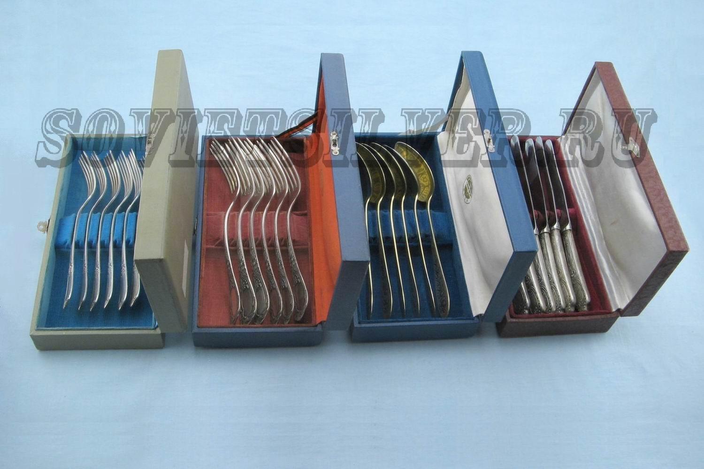 наборы серебряных предметов сервировки стола