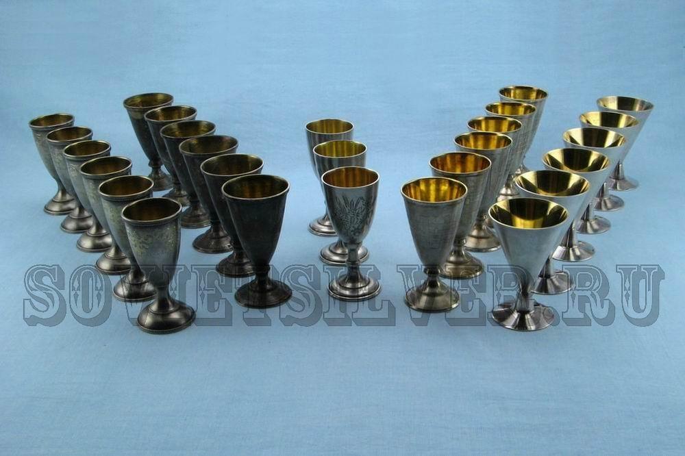 наборы серебряных рюмок