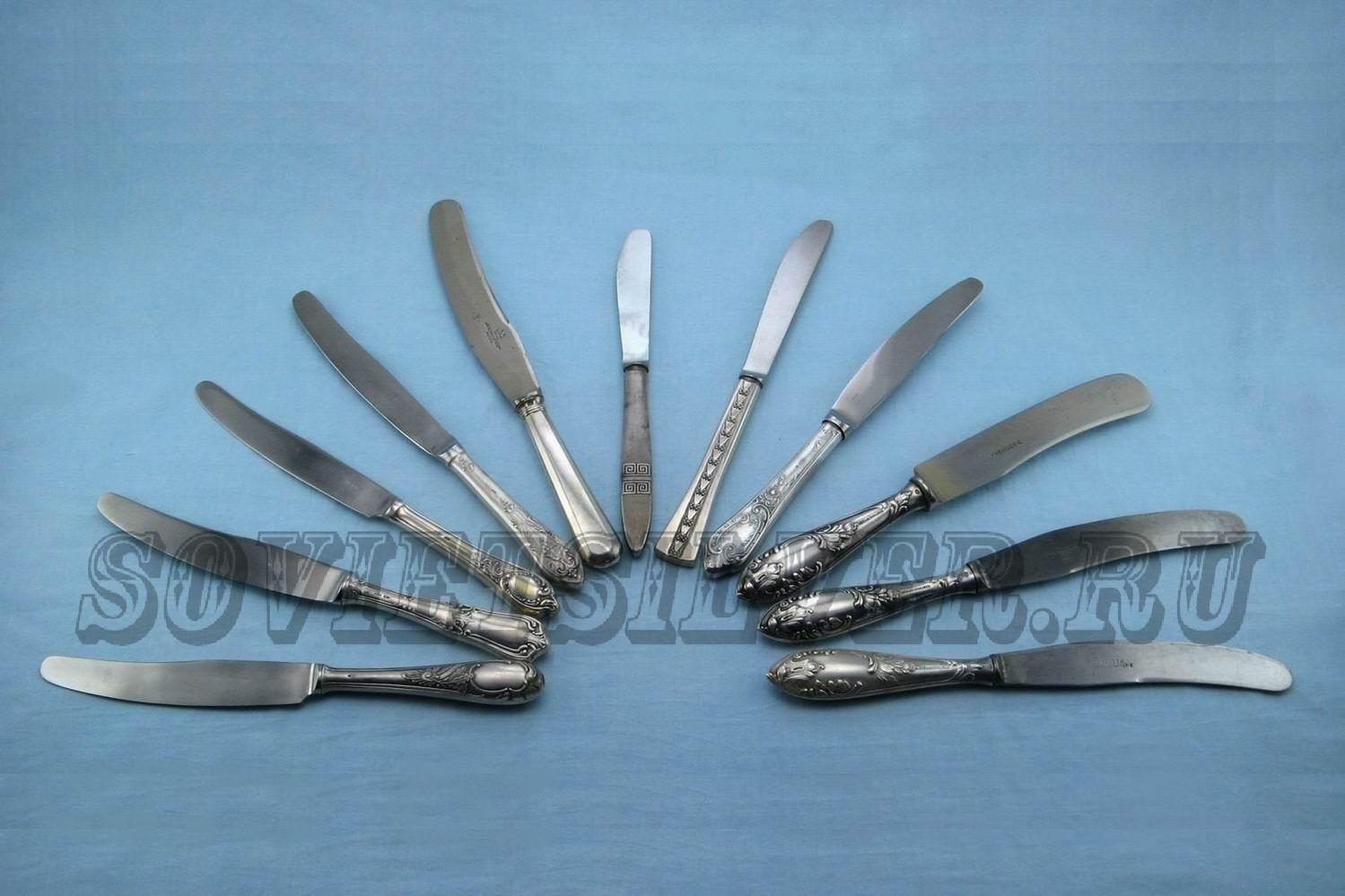 серебряные столовые ножи